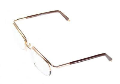 Non-Hinged Half Rim Glasses 53/19  Shaded Gold